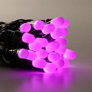 Гирлянда нить уличная 10м,  100led розовая оболочка