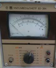 Милливольтметр В3-38А;  В3-38Б;  В3-38В