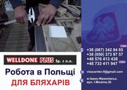 Польська фірма **WELLDONE PLUS**  ЗАПРОШУЄ НА РОБОТУ  БЛЯХАРІВ НА МОНТ