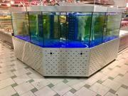 Торговый аквариум для устриц и лобстеров от ком-нии Retailaqua